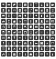 100 interior icons set black vector image vector image