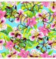 abstract pink flower pattern vector image vector image