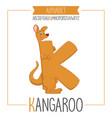Alphabet letter k and kangaroo