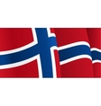 Background with waving Norwegian Flag vector image