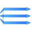 blue arrows on corner vector image vector image