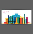 busan city architecture silhouette colorful vector image