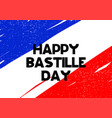 card with lettering happy batille day vector image