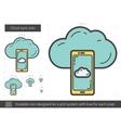 Cloud sync line icon vector image vector image
