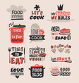 coocking badge motivation text vector image