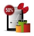 Cybermonday shopping season vector image vector image