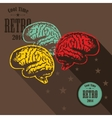Digital brains on the screen vector image