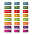 Discount sale new button set vector image