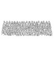 doodle crowd business people on meeting room vector image