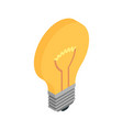 electrical light bulb icon in isometric view vector image