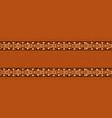 empty african tribal art frame banner background vector image vector image