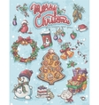 festive set elements to merry christmas vector image vector image