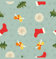 festive winter holidays seamless pattern vector image vector image