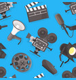 filmmaking seamless pattern movie production vector image vector image