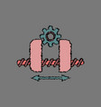 flat icon design collection gears and wheels in vector image vector image