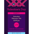 Flyer invitation to a party Valentine Day vector image vector image