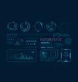futuristic hud ui for app user interface hud and vector image vector image