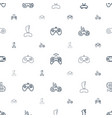 gaming icons pattern seamless white background vector image vector image