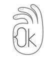 Gesture OK Hand symbol vector image vector image