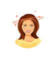 girl with dizziness vector image