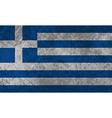 Greek Flag Grunge vector image vector image