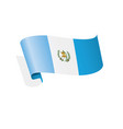 guatemala flag on a white vector image vector image