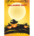 Halloween party poster bright color vector image vector image