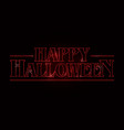 happy halloween text design happy halloween word vector image vector image