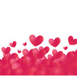 hearts backdrop with white copy space at top vector image vector image