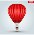 hot air red balloon vector image
