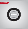 isolated wheel flat icon tire element can vector image
