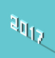 isometric 2017 year vector image vector image