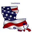 louisiana full american flag waving in wind vector image vector image