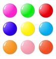 Magnets buttons color on a white background vector image vector image