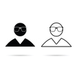 man icon black and white vector image vector image