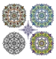 Mandalas backgroundOrientethnic pattern set vector image