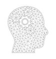 mesh brain mechanics icon vector image vector image