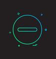 minus icon design vector image