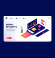 mobile payments smartphone banking app data vector image vector image