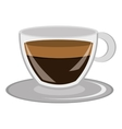 modern cup of coffee graphic vector image