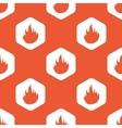 Orange hexagon fire pattern vector image