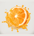 orange juice fresh fruit 3d icon vector image vector image