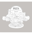 Pizza Ingredients Vintage Sketch vector image