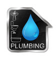 plumbing and running water at home vector image vector image