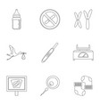 pregnancy icons set outline style vector image vector image