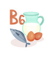 products containing vitamin b6 jug of cow milk vector image
