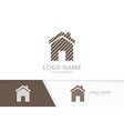real estate architecture logotype design template vector image