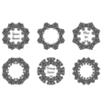Round geometric ornaments set intricate lacy vector image vector image