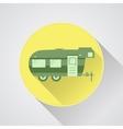 rv camping icon logo and badge caravan button vector image