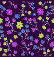 seamless pattern with hand-drawn gentle flowers vector image vector image